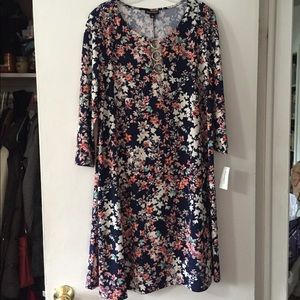 Floral Brand New Dress with gold embellishments